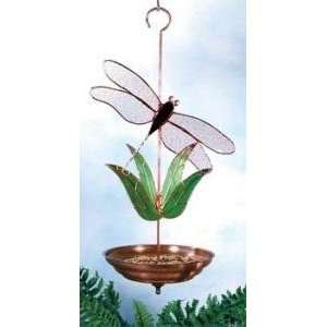Gallery Art Dragonfly Stained Glass Bird Feeder Patio, Lawn & Garden