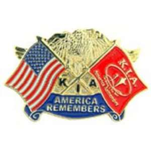American & KIA Flags America Remembers Pin 1 Arts