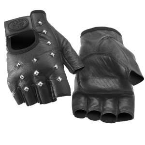 RIVER ROAD VEGAS SHORTY LEATHER GLOVES (SMALL) (BLACK) Automotive