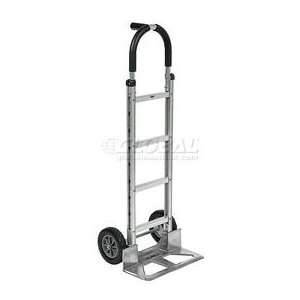 Aluminum Hand Truck Pin Handle Mold On Rubber Wheels