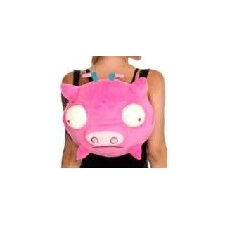 Invader Zim Pink Pig Piggy Plush Backpack Bag Clip CUTE  Toys
