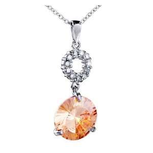 Round Crystal Pendant Necklace Jewelry For Women Pugster