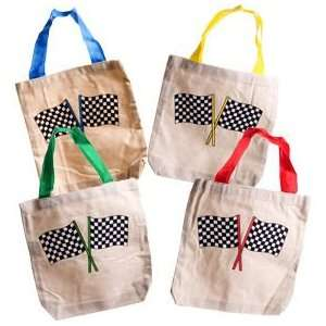 Racing Flag Canvas Tote Bag Toys & Games