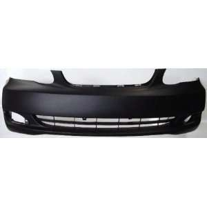 Toyota Corolla Primed Black Replacement Front Bumper Cover Automotive