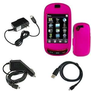 Samsung Gravity T T669 Combo Rubber Feel Hot Pink Protective Case