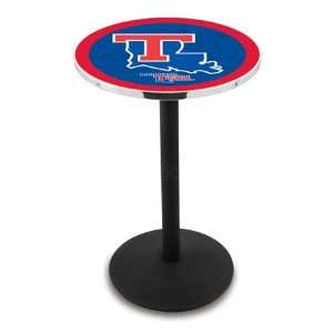 Tech Bar Height Pub Table   Round Base   NCAA