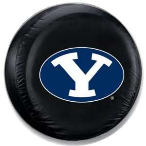 Brigham Young Cougars NCAA Black Spare Tire Cover  Sports