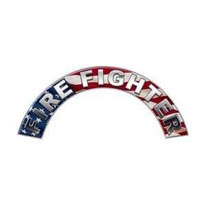 Firefighter Fire Helmet Arcs / Rocker Decals Reflective Automotive