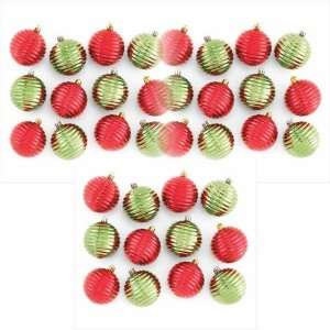 Green and Red Christmas Tree Ornaments 36 Pc
