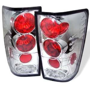 04 06 Nissan Titan Euro Taillights   Chrome Automotive