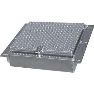 Box   Diamond Plate, Locking T Handle Style, 24in.L x 18in.W x 8in.H