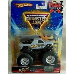 Monster Jam Classics Flag Series RAGIN STEEL Truck 34/75 Toys & Games