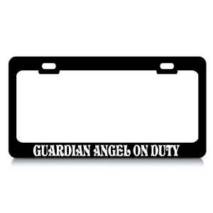 GUARDIAN ANGEL ON DUTY #3 Religious Christian Auto License Plate Frame