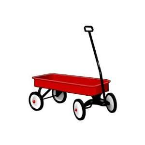 Little Red Wagon Round Sticker