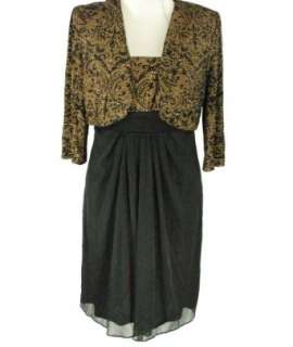 Alex Evenings Petite 2 Piece Glitter Dress with Jacket