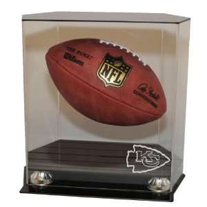 Kansas City Chiefs Floating Football Display Case   Acrylic Football