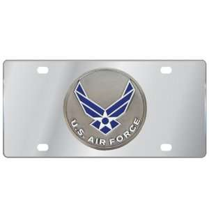 Siskiyou SPLT18 Stainless Steel Air Force License Plate Automotive