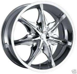 22 CHROME CENTER CAP RIM WHEEL 858 POLO LUMINOUS