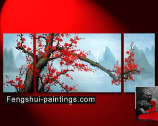 Abstract Art Feng Shui Oil Painting Plum Blossom Flower