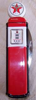 Franklin Mint TEXACO Collector Pocket Knife & Pouch NIB