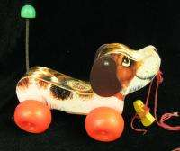 Vintage Fisher Price Little Snoopy Wood Dog Pull Toy