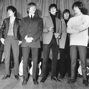 Rolling Stones Mick Jagger, Keith Richards, Brian Jones, Charlie Watts