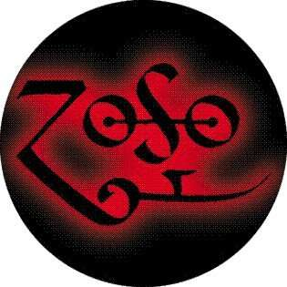 Led Zeppelin   Zoso (Jimmy Page Symbol)   1 1/2 Button