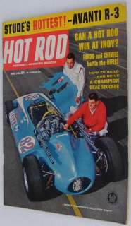 HOT ROD MAGAZINE NHRA JUNE 1963 ~ FORD PANEL AVANTI R 3