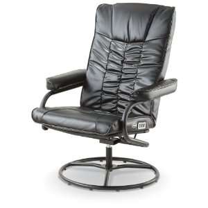 Dr. Scholls Shiatsu Massage Reclining Swivel Chair Black
