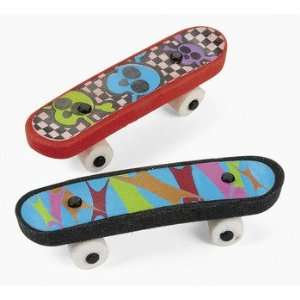 Skateboard Erasers   Basic School Supplies & Erasers & Pencil Toppers